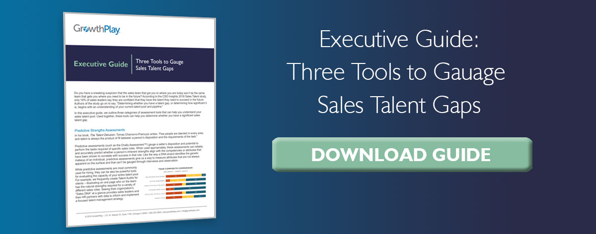 The Three Tools to Gauge Sales Talent Gaps